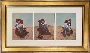 Francis Bacon, Original Color Lithograph Tiptych, 1966