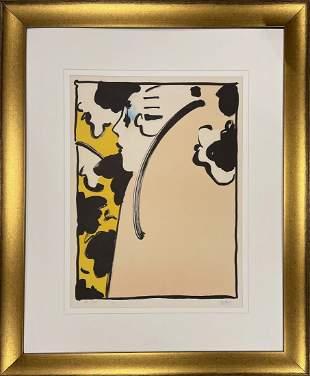 "Peter Max, Original vintage lithograph, ""Peach Lady"""