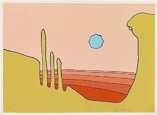 """Peter Max, Vintage signed serigraph, """"Desert Vision"""""""