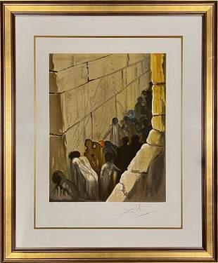 """Salvador Dali, Aliyah, """"The Wailing Wall"""""""