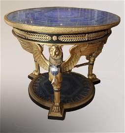 Dore Bronze and Lapis Lazuli Figural Center Table