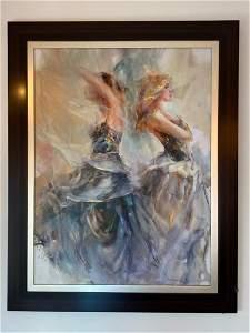 """Framed Oil Painting """"Hesperides II"""""""