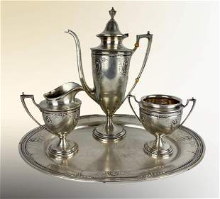 Early 20th Century Sterling Silver 4 Piece Tea Set