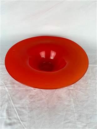 Red Art Glass BowlVase