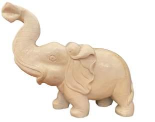 Large Chinese Carved Jade Elephant 31