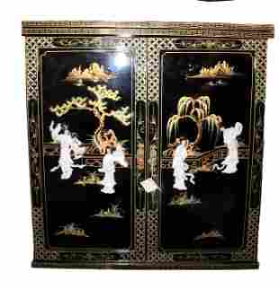 Chinese Mini Bar Cabinet with Mother Of Pearl