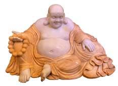 "Massive Chinese Carved Marble  Ho-Tai, ""Happy Buddha"""