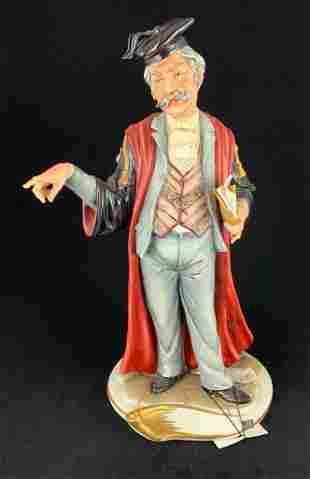 Capodimonte Porcelain Figurine Justice Ltd 78