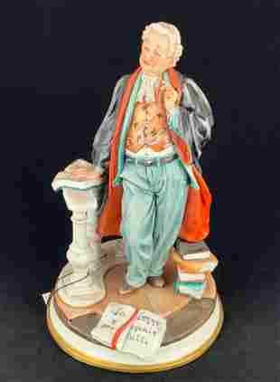 Capodimonte Porcelain Figurine Judge