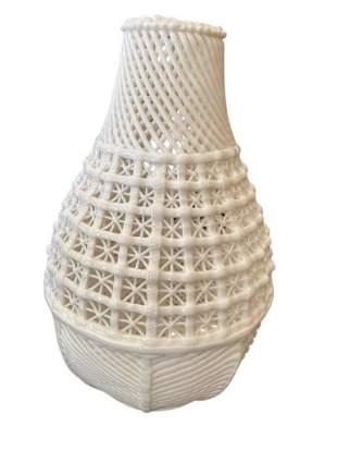Porcelain Fretwork White Vase