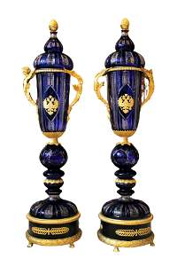 Pair of Massive French Ormolu Bronze Palace Vases