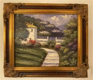 Seaside Home Oil Painting