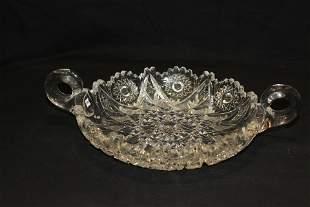Hand Cut American Crystal Bowl