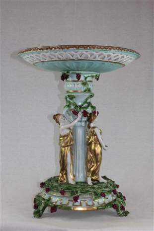 Three Graces Porcelain Compote