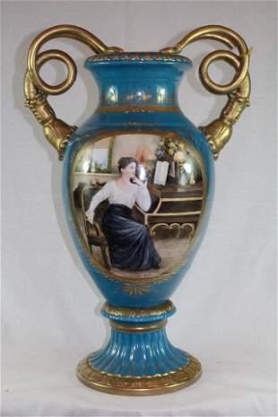 Large Porcelain Snake Urn
