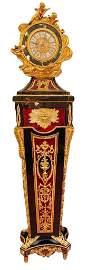Louis XV Rococo Style Ormolu Mounted Pedestal Clock