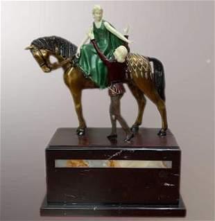 Art Deco Bronze Sculpture Romeo and Juliet