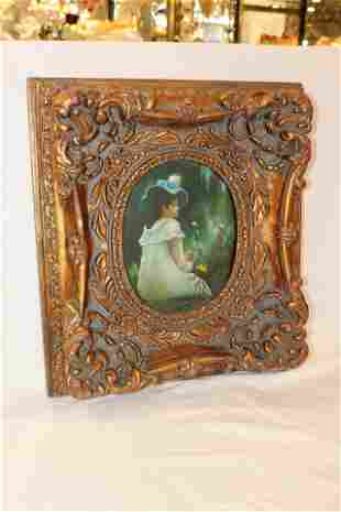 Gilt Frame Oil Painting Giselle at 20