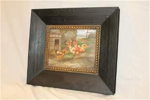 Gilt Frame Oil Painting The Brood