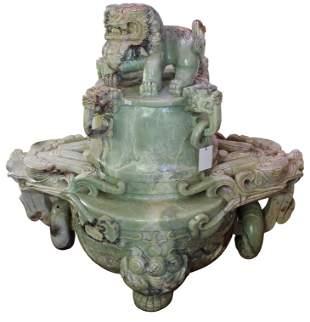 Marvelous Large Jade Dragon Incense Burner