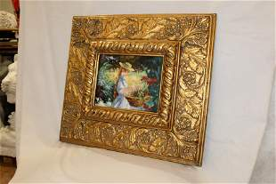 """Gilt Framed Oil Painting """"Young Annie"""""""