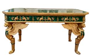French Ormolu Mounted Rectangular Malachite Table