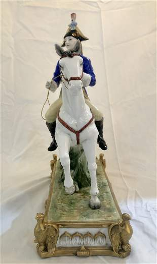 Hand painted Porcelain ''horse Lover''