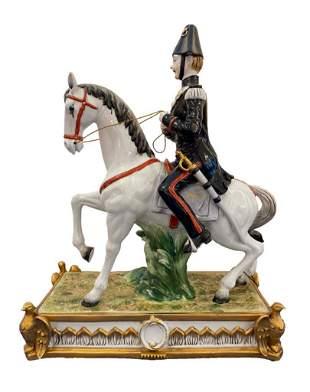"German Porcelain Figurine ""Sunday Ride"""