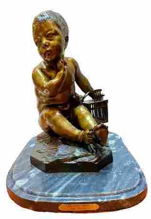 "Bronze Sculpture ""Divine Boy"" by Pigah"