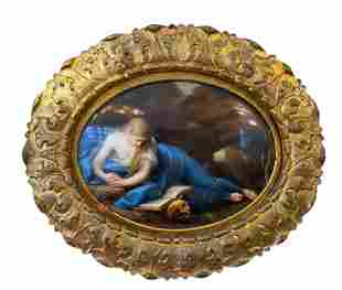 A KPM Porcelain Painting Plaque ''The Repentant Mary''