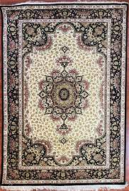 Hand Knotted Silk Persian Qum Rug approx 4x6ft