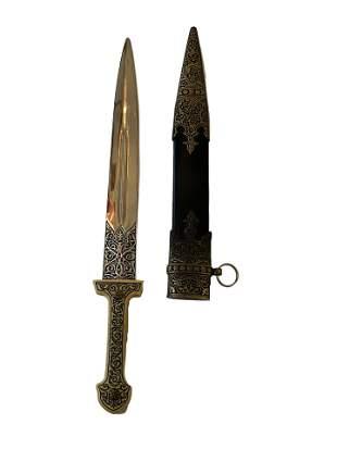 Decorative Dagger and Sheath