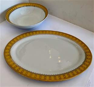 Cartier Style Serving Platter and Bowl Set