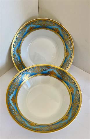 Set of Two German Porcelain Serving Bowls