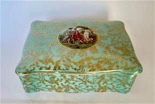 Small Vintage Porcelain Trinket Box