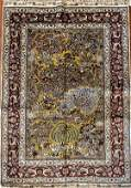 Hand Knotted Sino Persian Silk Paradise Rug 4x6 ft