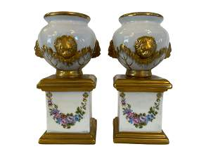 Pair of Small Porcelain Urns