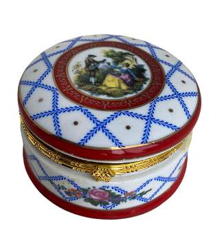 Hand Painted Porcelain Hinged Box