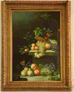 """Gilt Frame Oil Painting """"Harvest"""""""