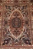 Large Vintage Persian Mashhad Rug 13x10ft