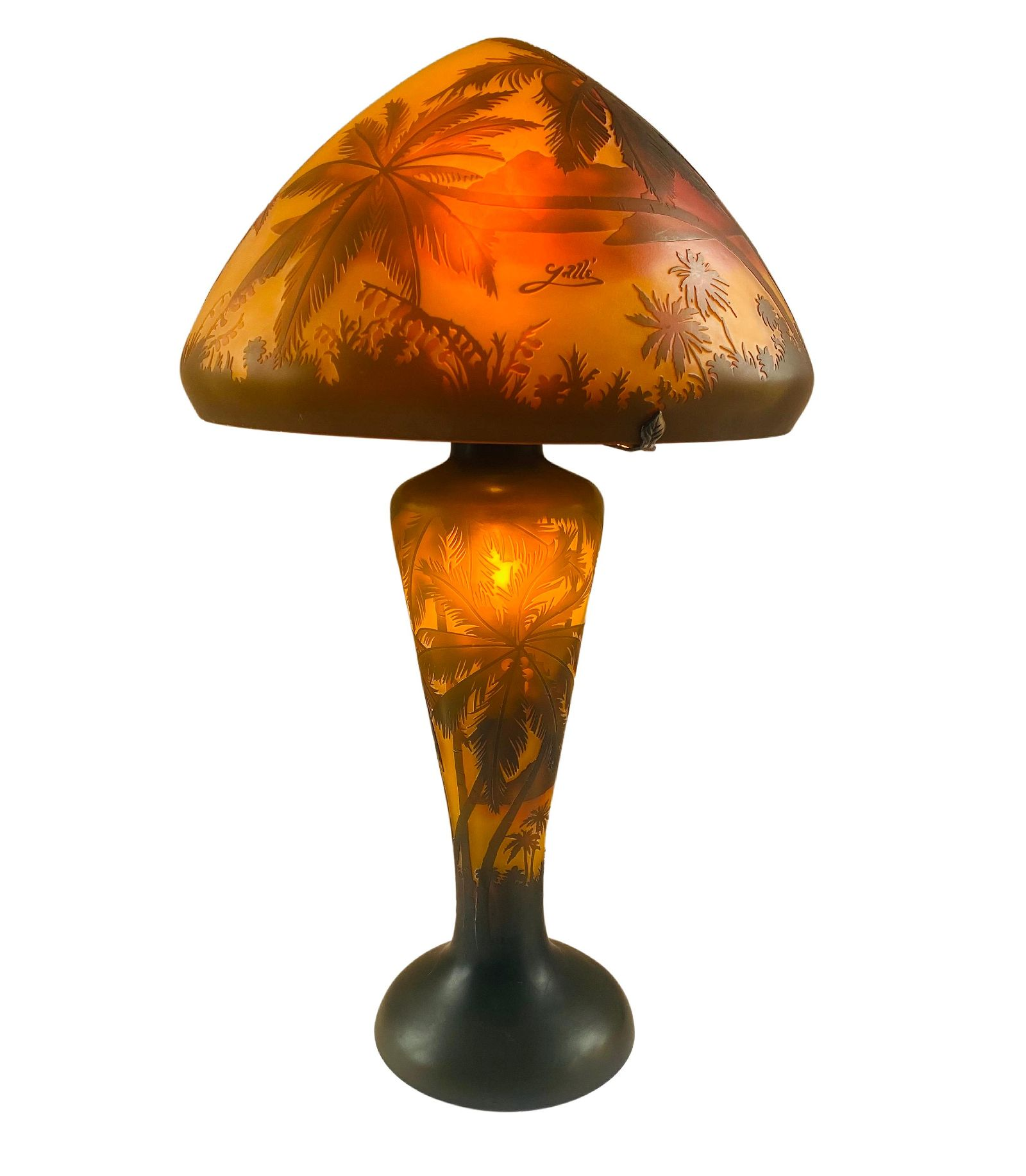 Art Nouveau Style Table Lamp   Galle Style