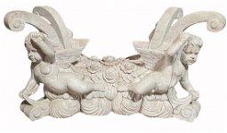 Large Ornately Carved Marble Table Base