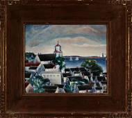 Nancy Maybin Ferguson (1872-1967)   The Church Tower,