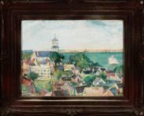 Nancy Maybin Ferguson (1872-1967)   Church Overlooking