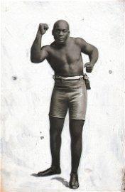 Branger, Jack Johnson Boxing, c. 1915