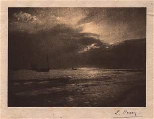 Ed Brissy, Seascape Oil Print, Exhibited, c. 1911