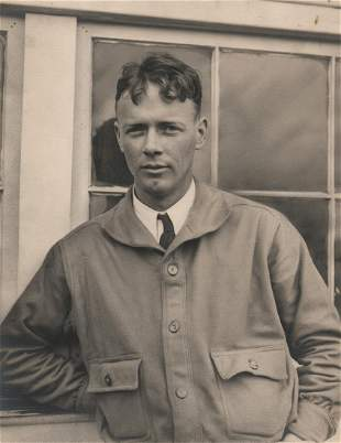 Charles A. Lindbergh Before Transatlantic Flight, 1927