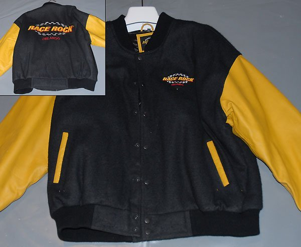 Black Polyester Race Rock Orlando Jacket