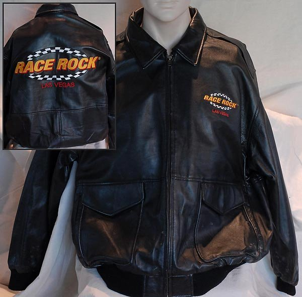 Race Rock Of Las Vegas Black Leather Jacket