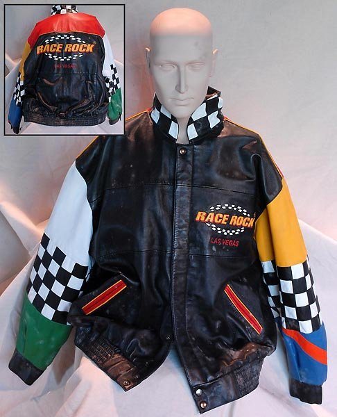 Black Leather Race Rock Jacket